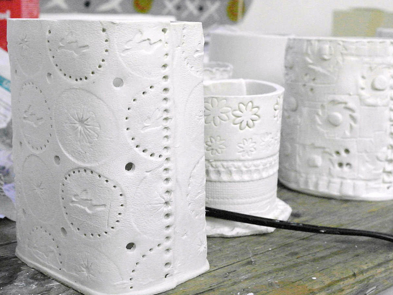 Porcelain Paperclay and Print Techniques - Ceramic Houses & Tea Light Holders (Foundation EXTRA)