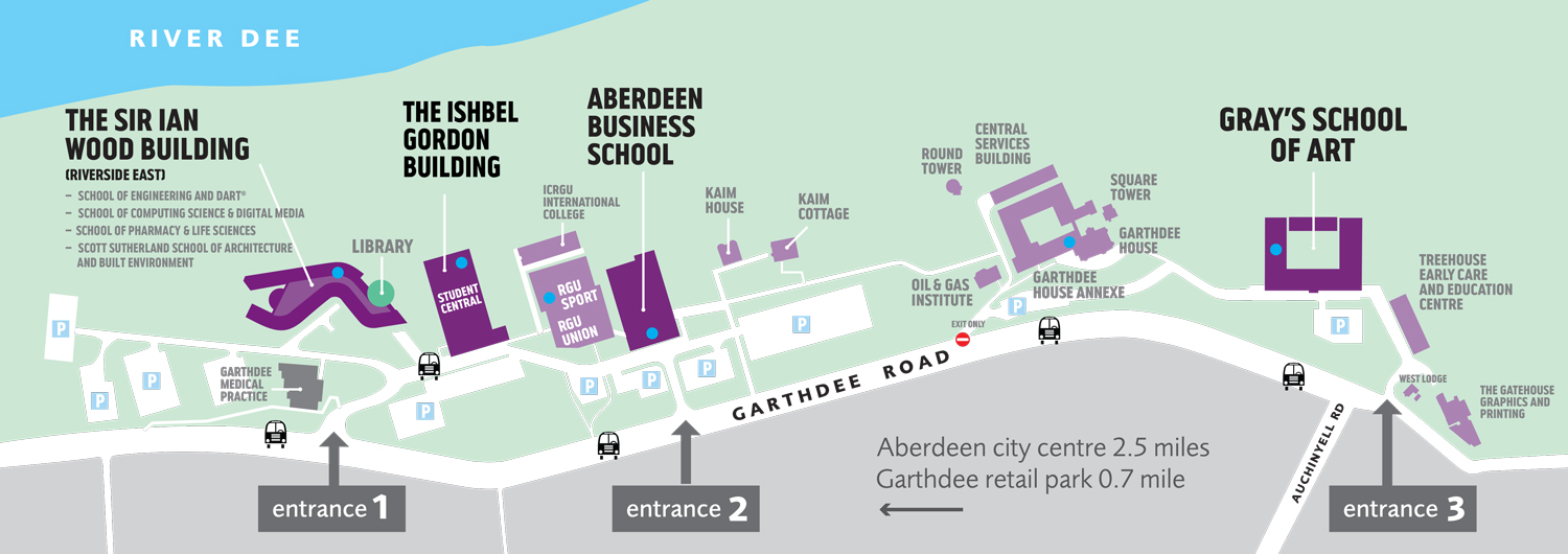 RGU Garthdee Campus Map Aug 2018